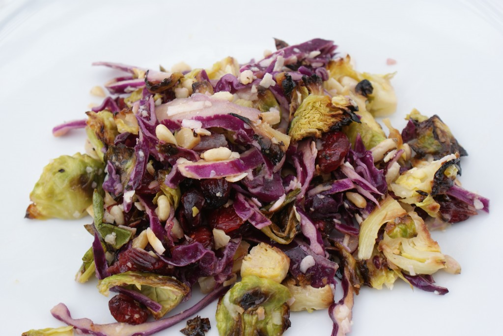 Roasted Brussels Sprouts and Cabbage Salad…