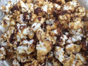Homemade Caramel Corn with chocolate is truly addicting!!!!