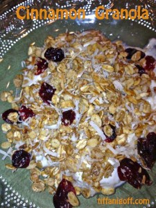 Homemade Cinnamon Granola…