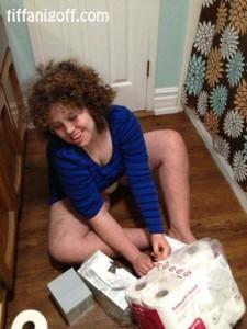 We found a chore for Tiara…