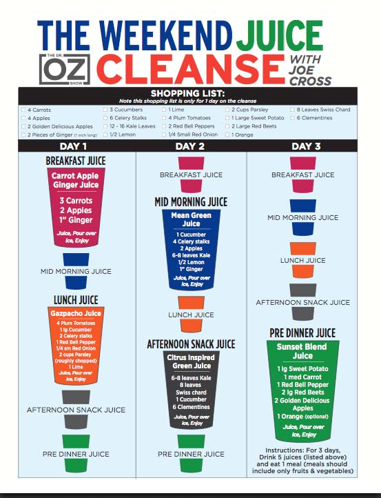 And today I start my 3 day cleanse!