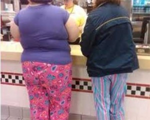 Why are people wearing pajamas in public?