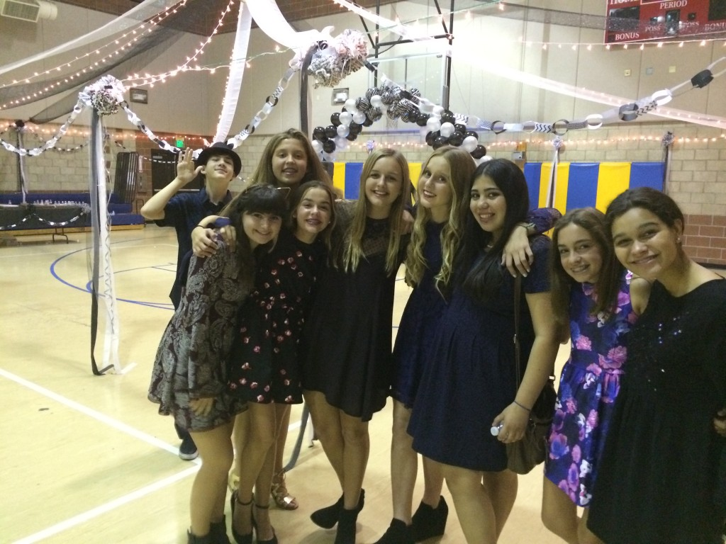 Trinity and some of her friends at the end of the dance.